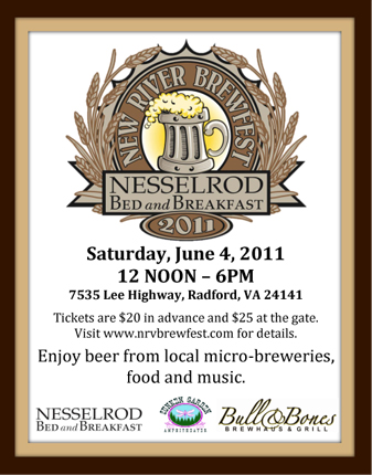 New River Brewfest at Nesselrod on the New River in Radford